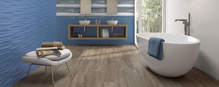 Carrelage imitation bois salle de bain carrelage sol - Installateur de salle de bain dans le nord ...